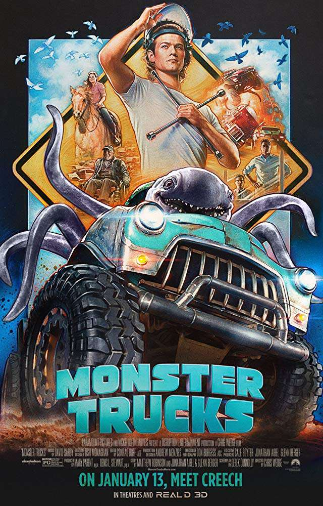 怪獸卡車_Monster Trucks_電影海報