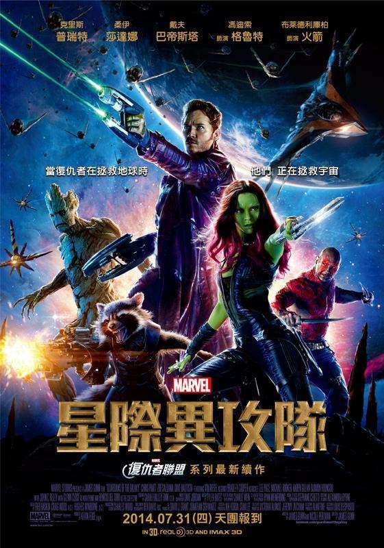 星際異攻隊_Guardians of the Galaxy_電影海報