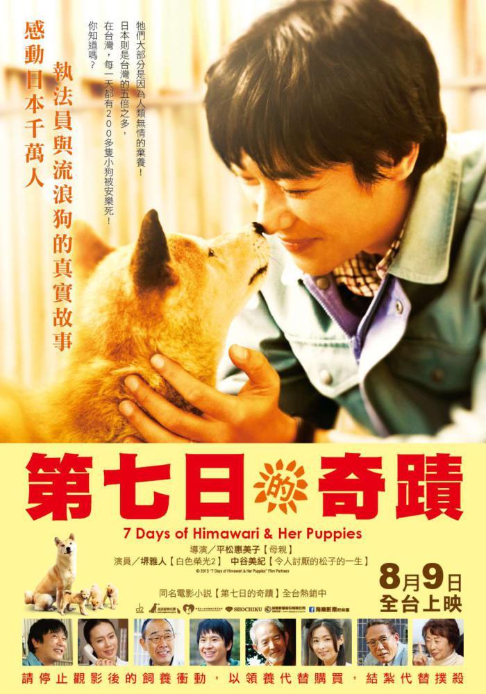 第七日的奇蹟_Himawari to koinu no nanokakan_電影海報