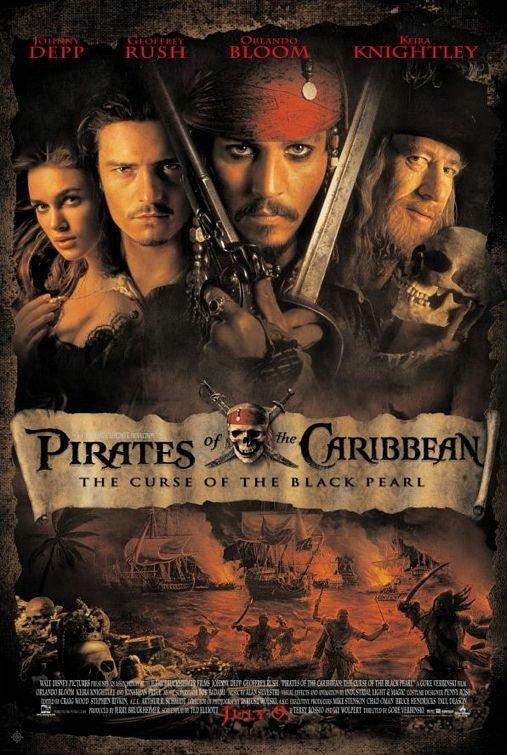 神鬼奇航:鬼盜船魔咒_Pirates of the Caribbean: The Curse of the Black Pearl_電影海報