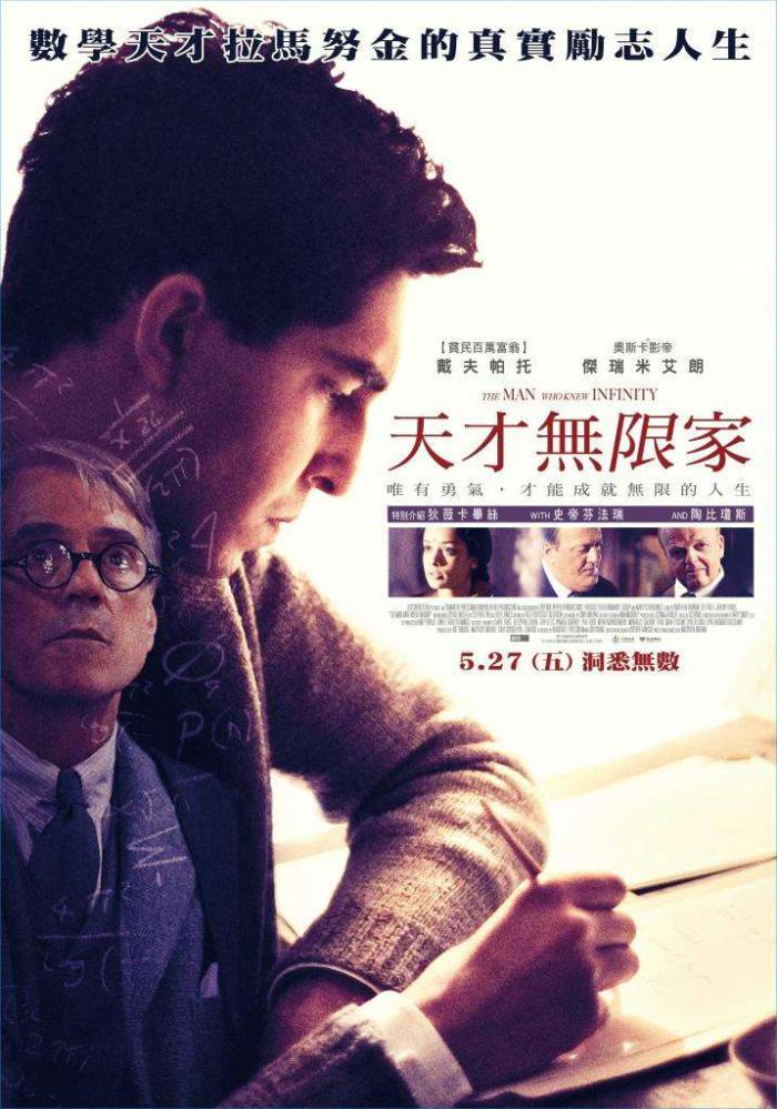 天才無限家_The Man Who Knew Infinity_電影海報
