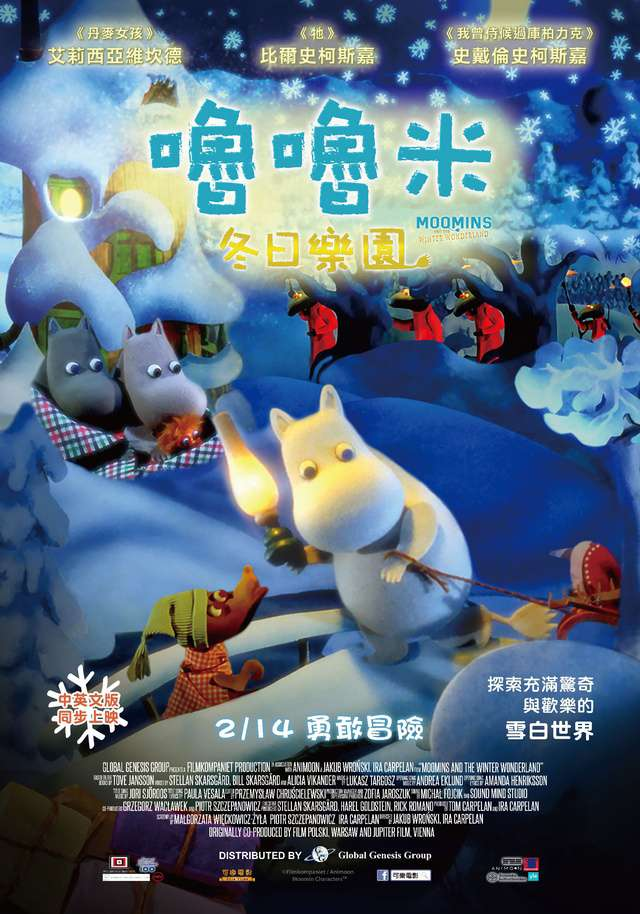 嚕嚕米冬日樂園_Moomins And The Winter Wonderland_電影海報
