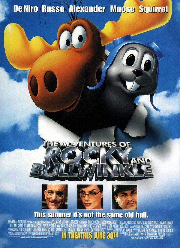 鹿兄鼠弟_The Adventures of Rocky and Bullwinkle_電影海報
