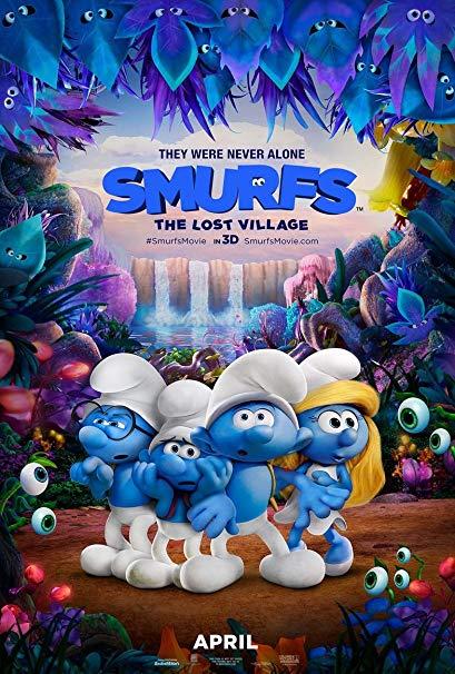 藍色小精靈:失落的藍藍村_Smurfs: The Lost Village_電影海報