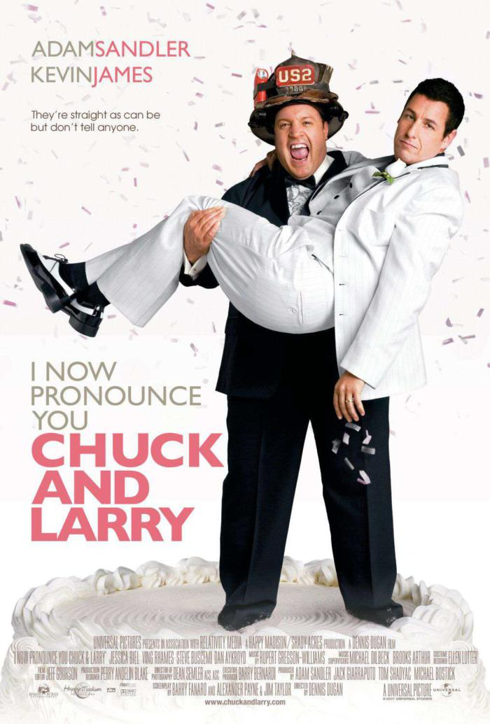 當我們假在一起_I Now Pronounce You Chuck And Larry_電影海報