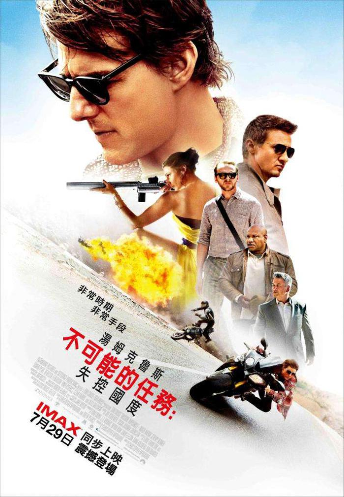 不可能的任務:失控國度_Mission: Impossible Rogue Nation_電影海報