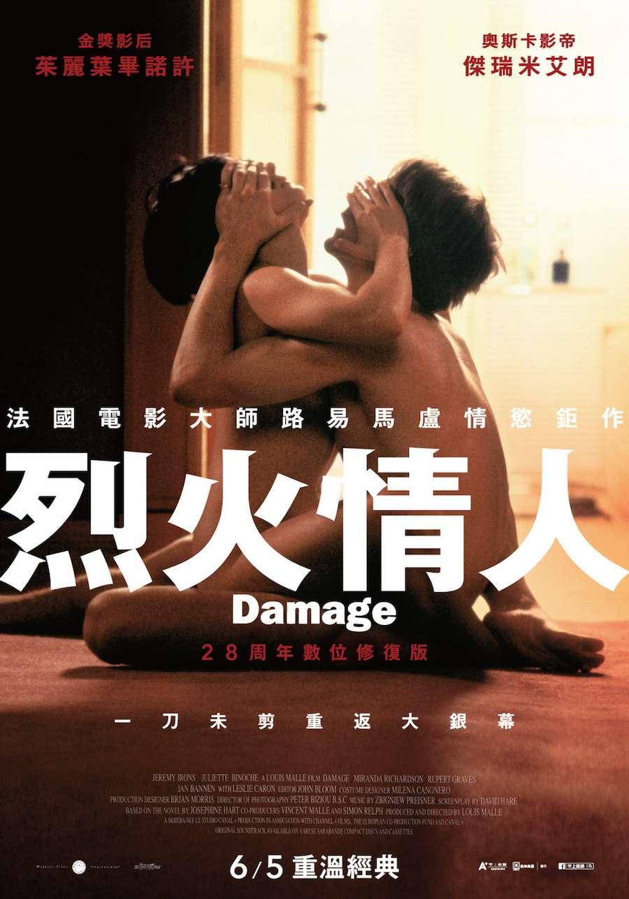 烈火情人_Damage_電影海報