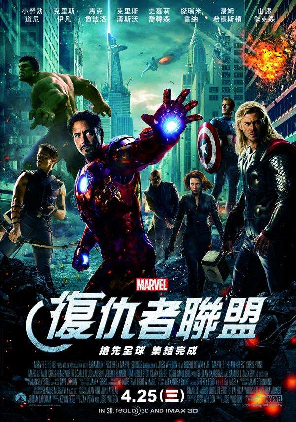 復仇者聯盟_The Avengers_電影海報