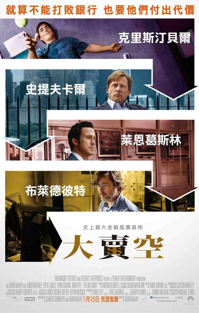大賣空_The Big Short_電影海報